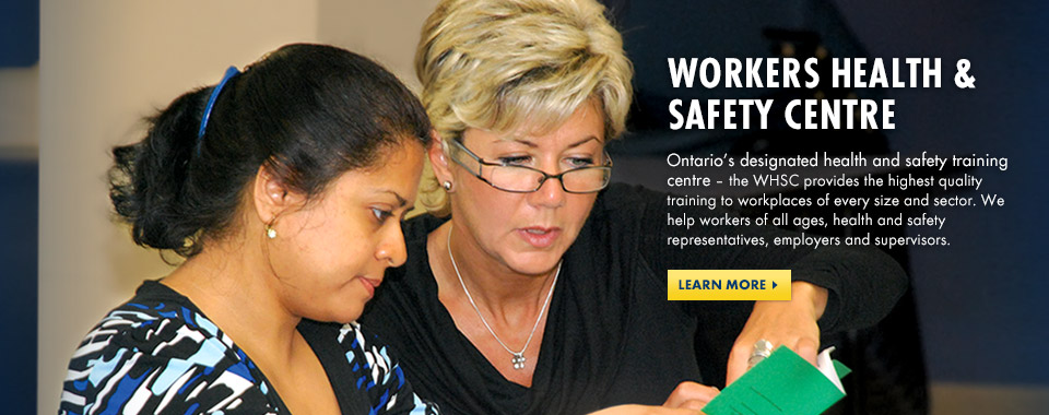 Ontario's designated health & safety training centre. Learn More