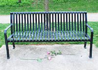 Park Bench and Plaque